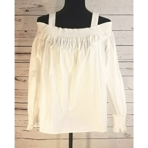 211e0f1c20ec4 NWT Ann Taylor Loft Smocked Off Shoulder Blouse